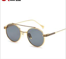 $enCountryForm.capitalKeyWord Australia - Fashion RETRO SUNGLASSES European and American colorful Sunglasses with metal nose frame round sunglasses