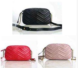 Ingrosso Camera bag 2019 borse di lusso di alta qualità del progettista famoso borsa catena borsa a tracolla nuova lettera di metallo modello onda
