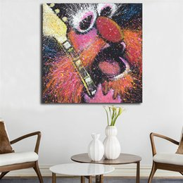 Guitar Traditional Australia - The Muppets Floyd On Bass Guitar Stephen Fishwick Art Canvas Poster Painting Wall Picture Print Home Bedroom Decoration Artwork