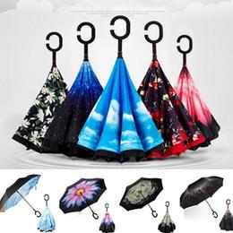 $enCountryForm.capitalKeyWord Australia - C-type umbrella Reverse umbrella car umbrellas double-layer umbrellas Windproof Umbrellas hands-free umbrella Folding Rain gear T8I010