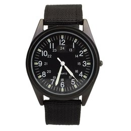 Мужские быстрые продажи Orkina черный циферблат нейлоновый ремешок из ткани повседневные часы милитари ORK-0070 на Распродаже