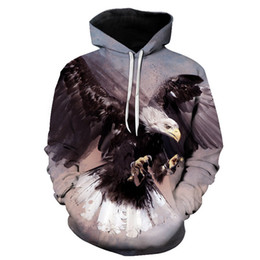 $enCountryForm.capitalKeyWord Australia - 3D printed animal fashion sweater Eagle   Dolphin   whale print hooded sweatshirt street fashion casual hooded sweater hoodie