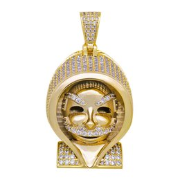 $enCountryForm.capitalKeyWord UK - Hot Selling Micro-inlaid zircon Egyptian Pharaoh Pendant 18K Gold Plated Hip Hop Mens Bling Jewelry Gift