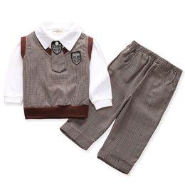 $enCountryForm.capitalKeyWord NZ - 5pcs Bodysuit Baby Boys Clothing set infants wedding party sweatshirt Pants school uniform for kids gentleman winter 1 2 3 years