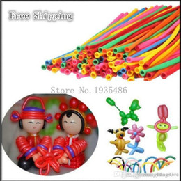 long latex balloons NZ - ht 100%latex balloons 200 pieces lot Mix color balloons Wedding Birthday Party Decoration Magic baloon Assorted Latex Long Balloon