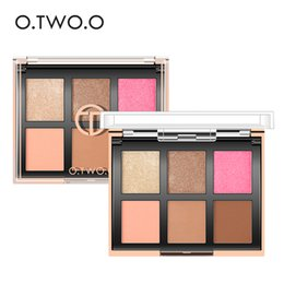 glitter sets for eyes UK - O.TWO.O Eyeshadow Palette Matte Diamond Glitter Matallic Eye Shadow in One Palette Shimmer Blush Makeup Set for Beauty Make Up