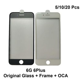 $enCountryForm.capitalKeyWord Australia - Original Glass with Frame with OCA Film for iPhone 6 6Plus Cold Press LCD Screen Assembly Repair Parts