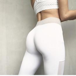 55195d5f8ad3 Sexy Women Yoga Pants Tight Athletic Gym Leggings Fitness High Waist Pocket  Mesh Girl Yoga Pants Sportwear Energy Sport Leggings