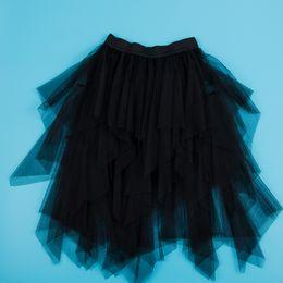 $enCountryForm.capitalKeyWord NZ - Tulle Skirts Women Streetwear Pleated Skirts Elastic High Waist Mesh Tutu Skirt Gray long Pleated For Sexy Girls