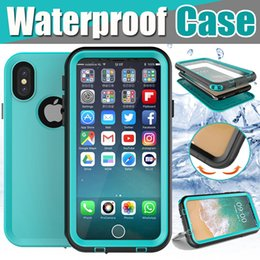 underwater case for iphone UK - Waterproof Case Underwater Shockproof Swimming Sports Diving Surfing Stand Holder Full Coverage Cover For iPhone XS Max XR X 8 7 6 6S Plus