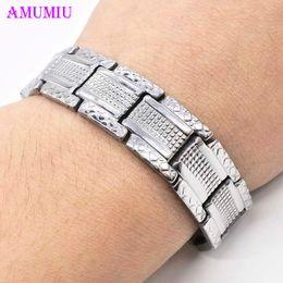 $enCountryForm.capitalKeyWord NZ - AMUMIU Mens Stainless Steel Double Chain ID Bracelets & bangles Jewellery Mens Stainless Steel Double Chain ID Bracelets B051
