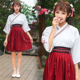$enCountryForm.capitalKeyWord Australia - Hanfu Chinese Stage Costumes For Women Traditional Ancient Festival Outfit Red Oriental Performance Clothing Folk Dress DC1801