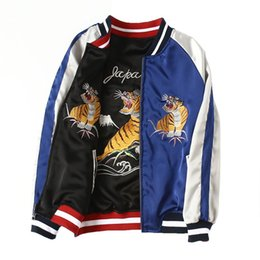 Jacket Tiger NZ - Bomber Jacket Women Tiger And Eagle Embroidered Basic Coats Jacket Zipper Chaquetas Outwear Fashion Parka Autumn spring Clothing