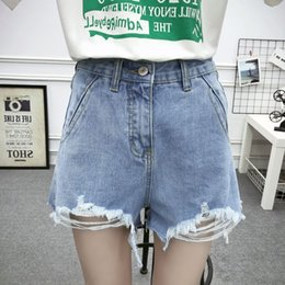 Jeans New Heavy Hot Drill Nail Pearl-fringed High-waist Jeans Shorts Female Summer Hollow Wide Leg Pants Women Girls Denim Shorts Various Styles Women's Clothing