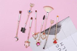 $enCountryForm.capitalKeyWord NZ - various 8pc sailor moon Makeup Brushes Set Cosmetic Powder Foundation Eyeshadow Brush Kits Make Up Tool for birthday gift