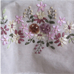embroidery flower tablecloth NZ - tablecloth European flower cotton dust-proof tablecloth wedding banquet cloth rust table decoration Handmade Ribbon Embroidery