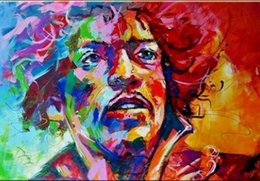 Chinese  JIMI HENDRIX Portrait Pop Art Oil Painting On Canvas Wall Decor Wall Art Home Decor Handpainted &HD Print 191022 manufacturers
