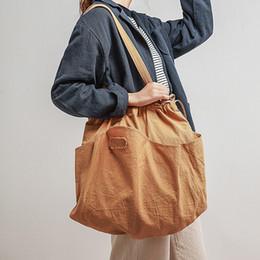 Ladies Handbag Fabric Australia - Cotton Fabric high Capacity Women Tote bag Ladies Casual Shoulder Bag Foldable Reusable Shopping summer Beach handbag
