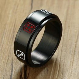 $enCountryForm.capitalKeyWord UK - Stainless steel can be turned tweezers transport ring male personality lucky ring ring tide tail lucky dice