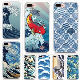 $enCountryForm.capitalKeyWord Australia - For iPhone XS XR XS Max X 8 7 6 Plus 5S case Hard PC and soft TPU High quality print pictures Cartoon Wave Art Japanes Phone cases 10pcs lot