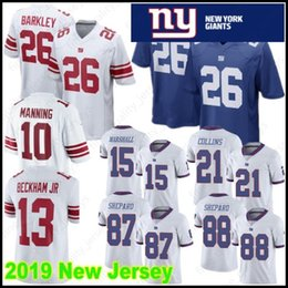 48c03efee 26 Saquon Barkley Stitched 13 Odell Beckham Jr New York Gaints Jersey 88  Evan Engram 10 Eli Manning 87 Shepard 15 Marshall 21 Landon Collins