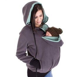 Maternity Sweater Coats UK - Carrying Jacket Baby Carrier Hoodie Kangaroo Coat Jacket for Mom and Baby Wearing Hoodie Maternity Sweater