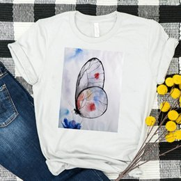 female graphic tees Australia - Women Shirt Womens Butterfly Cute Photo Summer Graphic Top Tshirt Tees Printed Ladies Clothes Kawaii Short Sleeve Female T-shirt