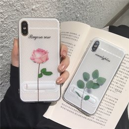 Wholesale Mesh Net Hollowed Out Breathable Colourful Patterns Kickstand Holder Cellphone Case For Iphone XS MAX XR XS X Plus