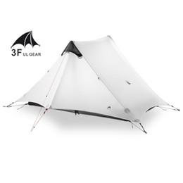 Ultralight gear online shopping - Lanshan f Ul Gear Person Person Outdoor Ultralight Camping Tent Season Season Professional d Silnylon Rodless Tent SH190713
