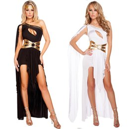 greek costumes Australia - Sexy Greek Goddess Dress Black White Roma Princess Female Warrior Hen Party Fancy Dress Theme Costume
