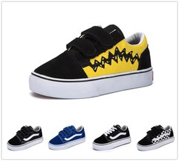 $enCountryForm.capitalKeyWord Australia - classic children's shoes infant 2018 old skool casual boys girls black white red baby kids canvas skateboard sport sneakers 22-35
