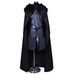 $enCountryForm.capitalKeyWord NZ - Game of Thrones Nights Watch Jon Snow Cosplay Costume Men Outfit Suit Vest Skirt Cloak Belt Halloween Costumes plus size xxs-xxxl