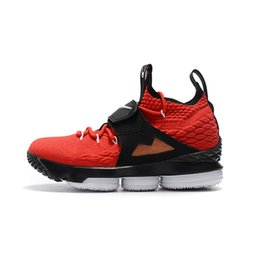 $enCountryForm.capitalKeyWord Australia - Cheap men lebron 15 Diamond Turf basketball shoes for sale Black Red Gold White Boys girls youth kids outdoor sneakers with box size 12