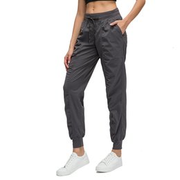 Wholesale relaxed yoga pants for sale – dress Yoga Dance Pants High Gym Sport Relaxed Lady Loose Pants LU Women Sports Tights Gym sweatpants Femme yoga outdoor Jogging Pant
