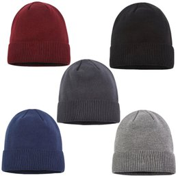 $enCountryForm.capitalKeyWord Australia - Unisex Fashion Wool Knitted Beanie Hat Winter Warm Men Women Skull Caps Logo Print Outdoor Thickness Hats Street Hip Hop Pattern Cap C72603