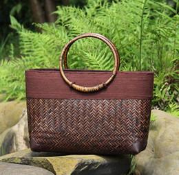 $enCountryForm.capitalKeyWord Australia - new fashion women tourism holiday sea manual weaving handbag Bamboo weaving bag Beach bags