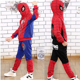 $enCountryForm.capitalKeyWord Australia - Spiderman Baby Boys Clothing Sets Sport Suit For Boys Hoodies Jacket Coat Pants Spider Man Cosplay Costumes Kids Zip Clothes Set J190717