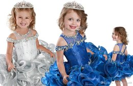 images for cupcakes Australia - Stunning Cupcake Little Girls Pageant Dresses Infant for toddler Short Ruffles First Communion Dress Beaded Cheap Flower Girls Dresses