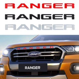 Ford emblems stickers online shopping - Grille Top Logo Letter For Ford Ranger Grills RANGER D Emblem Original Size ABS Sticker With Glue Chromium Styling Color