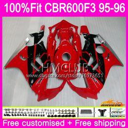 $enCountryForm.capitalKeyWord Australia - Injection For HONDA CBR 600F3 CBR600FS CBR 600 FS F3 1995 1996 77HM.25 100%Fit CBR600RR CBR600F3 CBR600 F3 95 96 OEM Sale Red Black Fairings