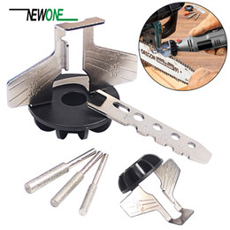 saw set tool Australia - Saw Sharpening Attachment Sharpener Guide Drill Adapter Dremel Style Drill Rotary Mini Power Tool Accessories Set