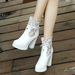 $enCountryForm.capitalKeyWord Australia - Boot summer Lady sandals Womens sexy shoe High Heel 10.5 cm heel mesh lace up boot big size 35-43 cut out ankle boot for woman free ship