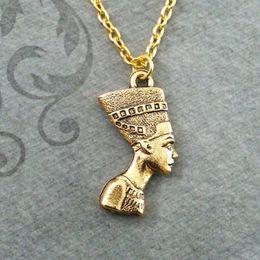 Egypt Pendants Australia - Ancient Egypt Pharaoh Pendant Necklace Men Women Gold Plated Jewelry