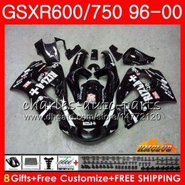 Gsxr rizla fairinG kits online shopping - Body For SUZUKI SRAD GSXR GSXR750 HC GSX R750 GSXR GSXR600 Fairing RIZLA black kit