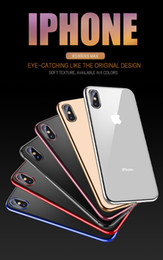 Crystal Clear Phone Cases NZ - luxury TPU Soft Crystal Ultra Thin Clear Rubber Plating Electroplating Case iPhone X XS MAX XR 6S 7 8 Plus Phone Cover cases