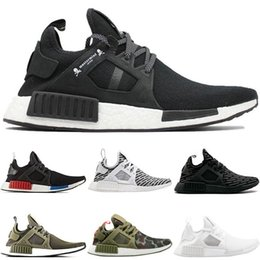 d311aad4a NMD XR1 Running Shoes for men Mastermind Japan Olive green Camo Glitch Black  White Blue Pack OG Classic men women sports Sneakers 36-45
