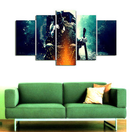 Vampire Decor UK - Abraham Lincoln - Vampire Hunter,5 Pieces Home Decor HD Printed Modern Art Painting on Canvas (Unframed Framed)