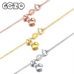Gold 18k Pure Australia - Gczq 100% Genuine 18k White yellow rose Gold Chain 1.4g Arbitrarily Adjustable Necklace Gold Chain Pure Gold Necklace Y19052301