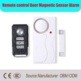 New Wireless Magnetic Window Door Sensor Detector Remote Control Entry Detector Anti-Theft Home Security Alarm System DHL free shipping from gsm pstn dual alarm manufacturers