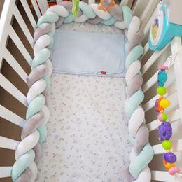 $enCountryForm.capitalKeyWord Australia - 1m-3m Customized Nodic Knot Bed For Newborn Knotted Braid Pillow Cushion Baby Crib Bumper Protector Room Cot Decor Q190530